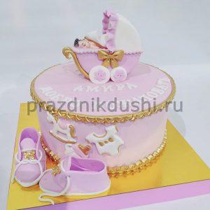 Торт для детей — розовые мечты