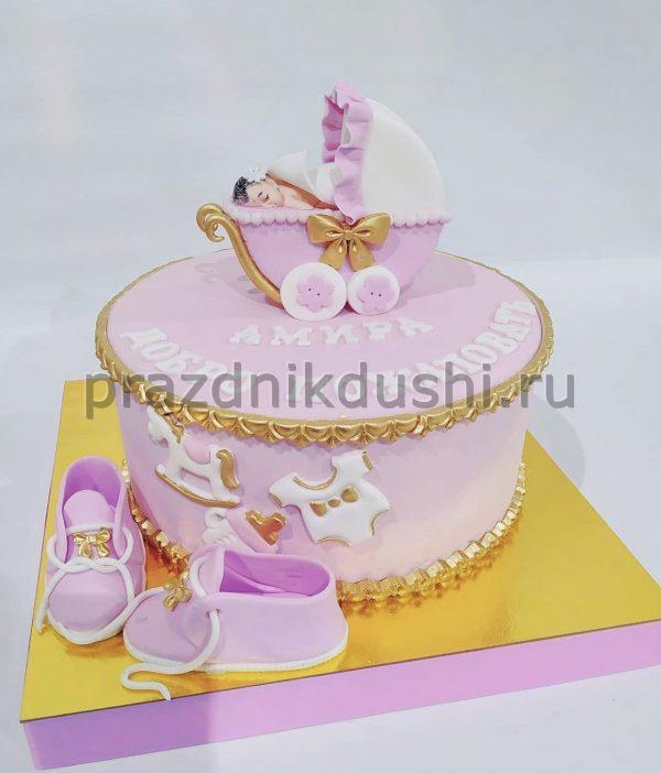 Торт Розовые мечты для малышки