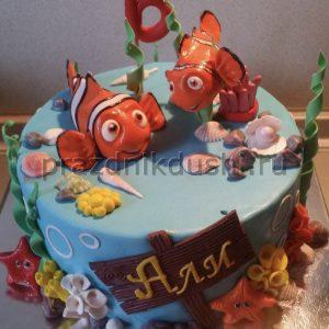 Торт для детей — Рыбки