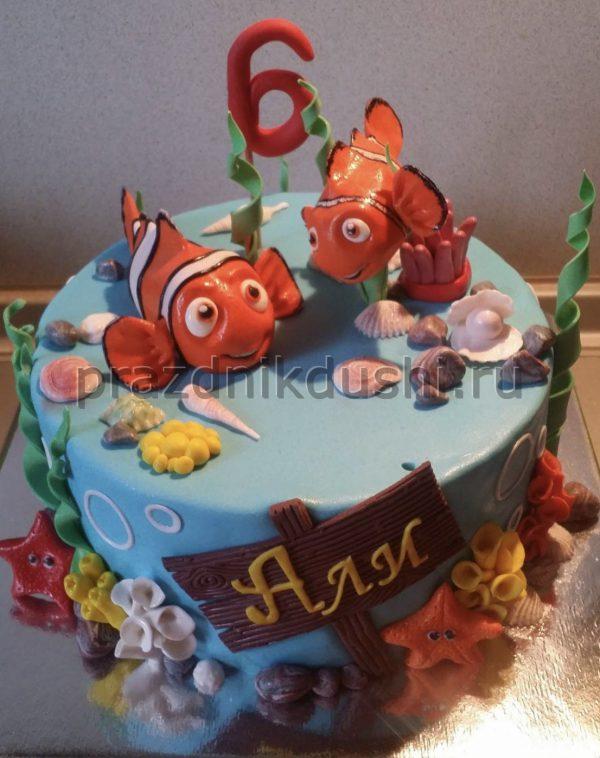 Торт для ребёнка Рыбки