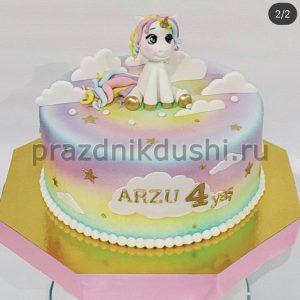 Торт на день рождения ребёнка — Единорог