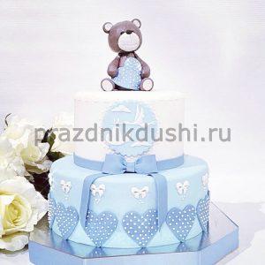 Торт на рождение ребёнка — Медвежонок
