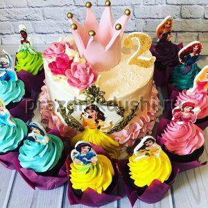 Торт для детского праздника Корона для принцессы