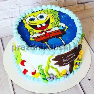 Торт для детского праздника Губка Боб