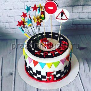 Торт для детского праздника Машинка
