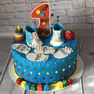 Торт для детского праздника 1 год мальчику
