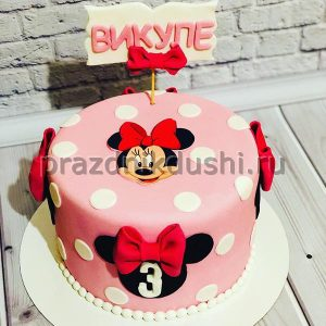 Торт для детского праздника Минни 1