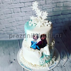 Торт для детского праздника Снежный