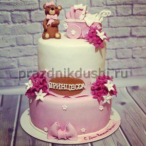 Торт для детского праздника День рождения принцессы