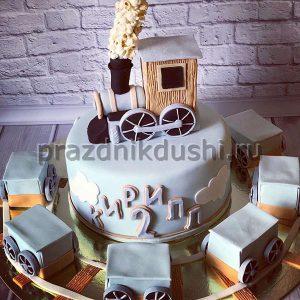 Торт для детского праздника Паровозик