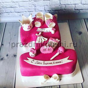 Торт для детского праздника для маленькой королевы