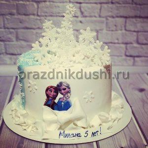 Торт для детского праздника Снежинки