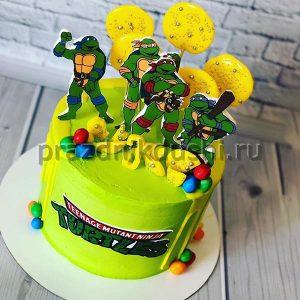 Торт для детского праздника Черепашки ниндзя