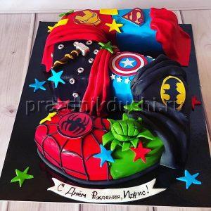 Торт для детского праздника Супергеройский