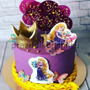 Торт для детского праздника для принцессы