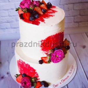 Торт — Фруктово-цветочный