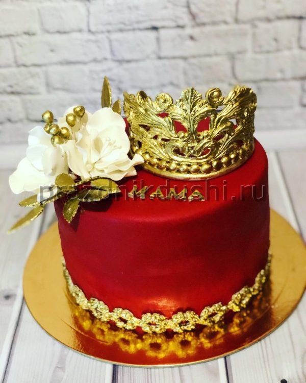 Торт - Корона и цветы