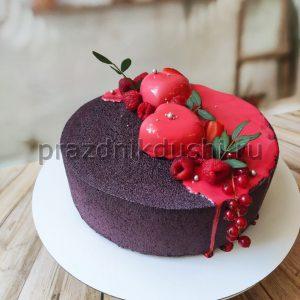 Торт муссовый Сердечки