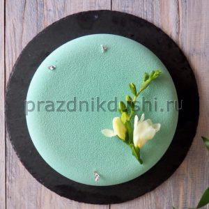 Торт муссовый с цветком