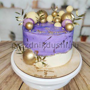 Торт муссовый двухцветный