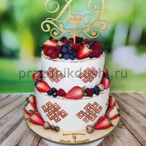 Торт свадебный 2-х ярусный