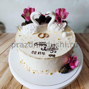 Торт свадебный 1 ярус
