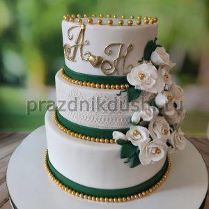 Торт свадебный 3-х ярусный