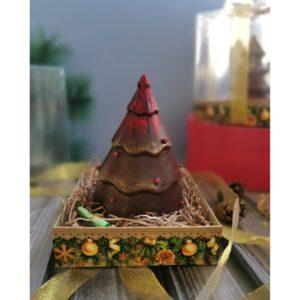 Елочка шоколадная 16 см.