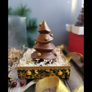 Елочка шоколадная 15 см.